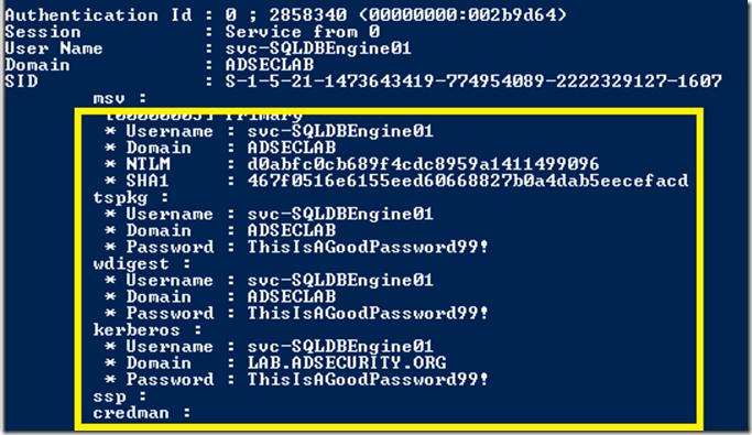 Mimikatz-Sekurlsa-logonpasswords-Win2008R2-ServicePasswordDump-Part2
