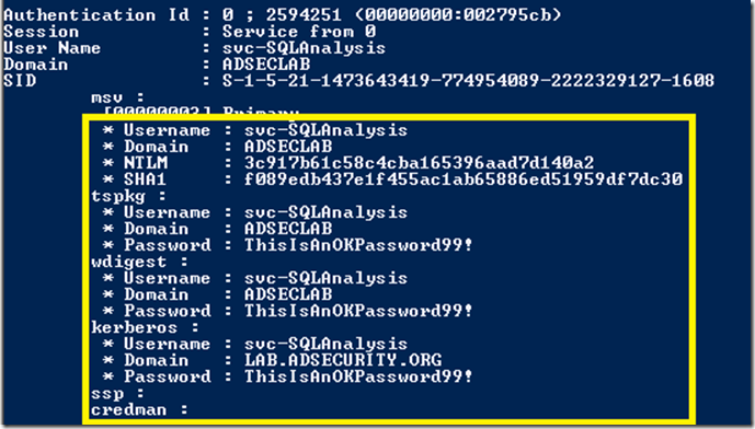 Mimikatz-Sekurlsa-logonpasswords-Win2008R2-ServicePasswordDump-Part3
