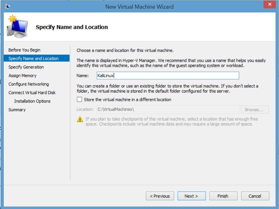 Installing Kali Linux on Windows 8 Hyper-V – Active