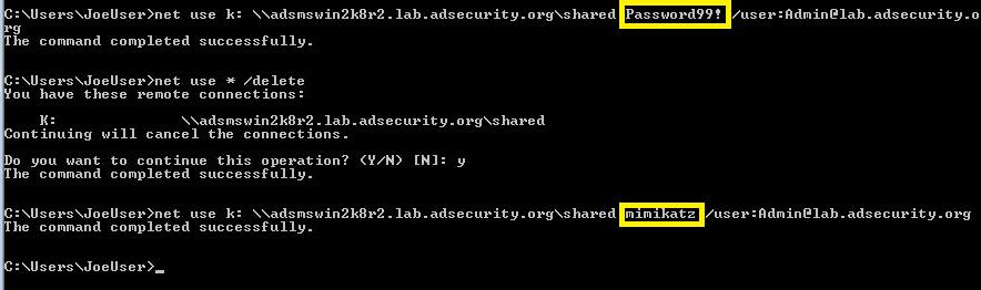 Mimikatz-SkeletonKey-ShareConnect-Admin-DifferentPassword-Success