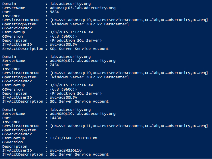 SPN Scanning – Service Discovery without Network Port