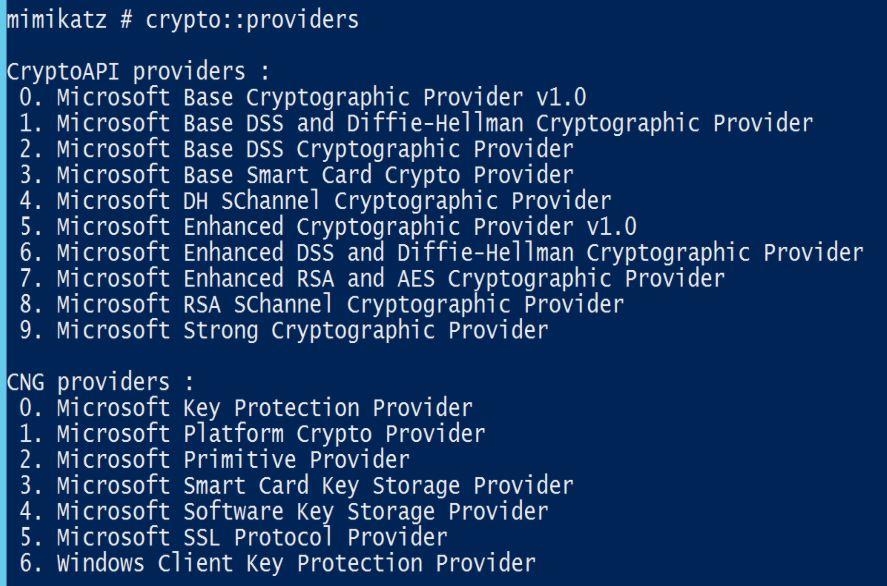 Mimikatz-Crypto-Providers