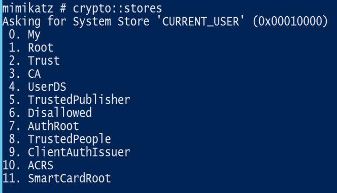 Mimikatz-Crypto-Stores