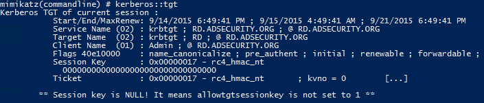 Mimikatz-Kerberos-TGT