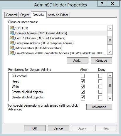 SneakyADPersistence-AdminSDProp-AdminSDHolder-ADObject-DefaultACLs