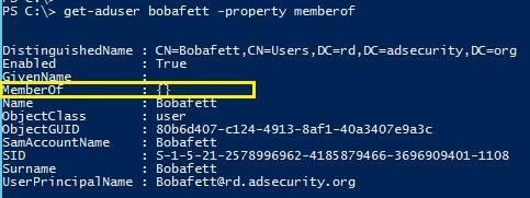 SneakyADPersistence-AdminSDProp-BobaFett-UserRights-GetADUser-02
