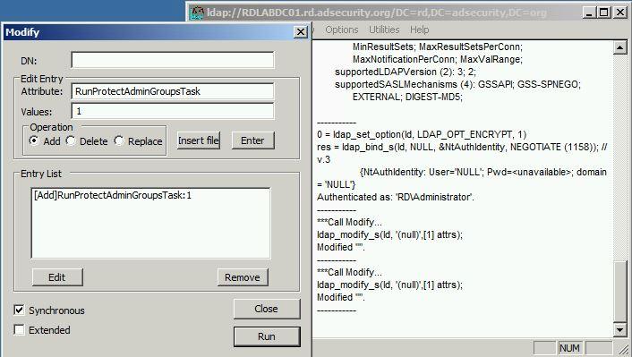 SneakyADPersistence-AdminSDProp-ManuallyRun-WindowsServer2008R2Method-RunProtectAdminGroupsTask