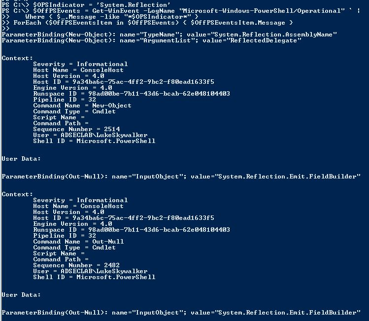 Detecting Offensive PowerShell Attack Tools – Active Directory Security