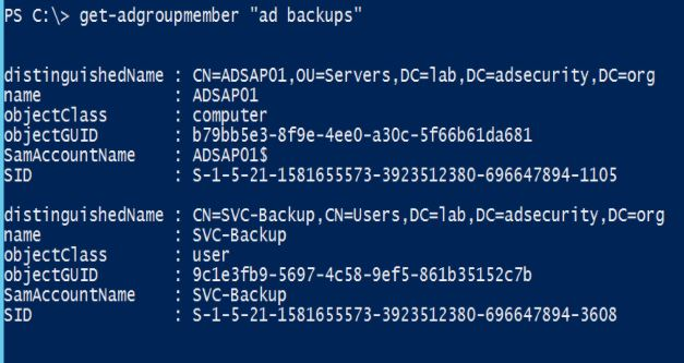 SneakyADPersistence-ADBackupsGroup-in-Administrators-2
