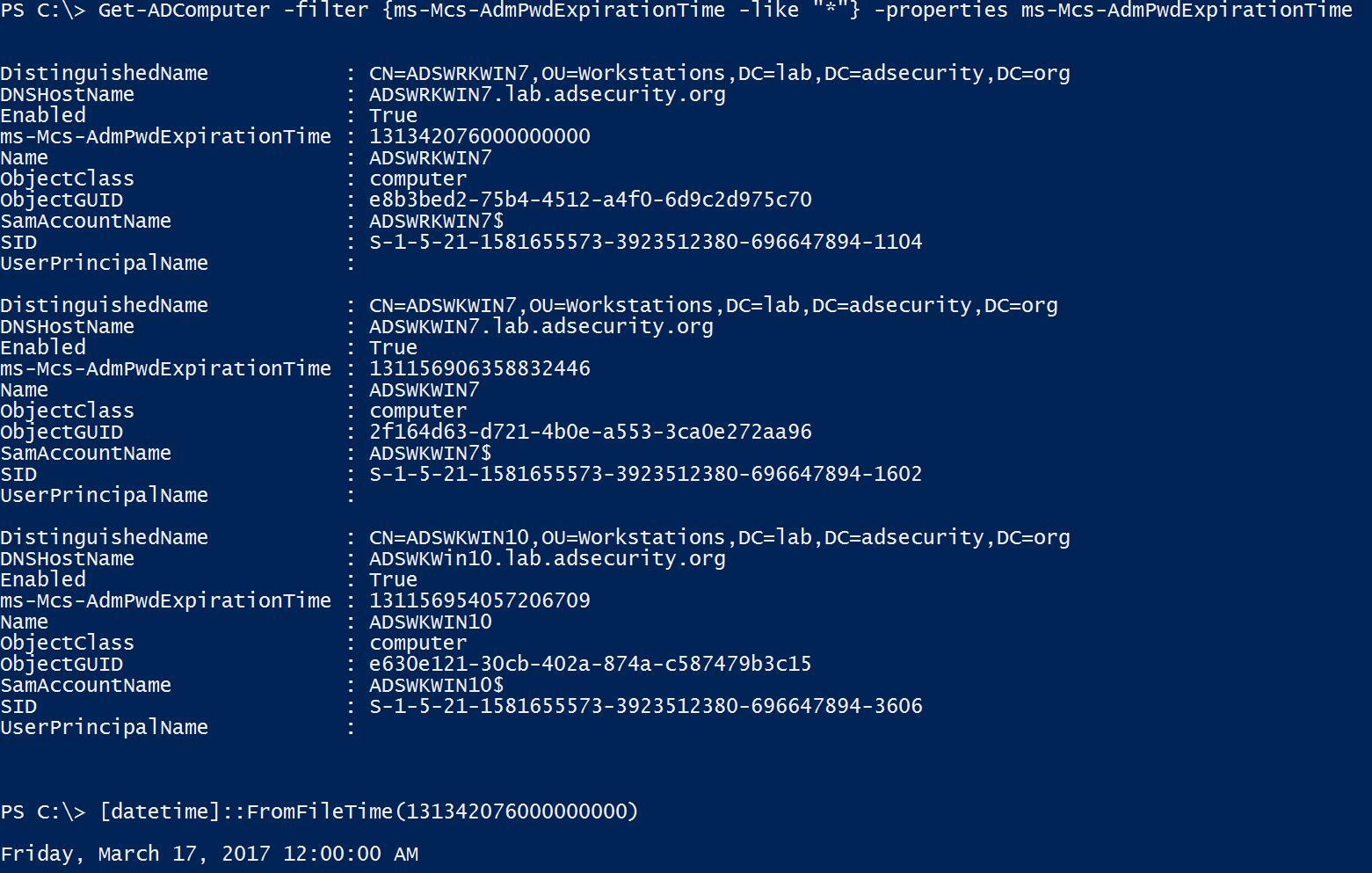 Microsoft LAPS Security & Active Directory LAPS