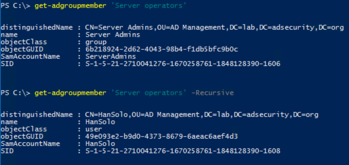 how to create security group in powershell