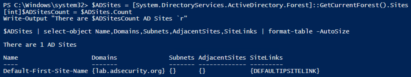 Gathering AD Data with the Active Directory PowerShell Module