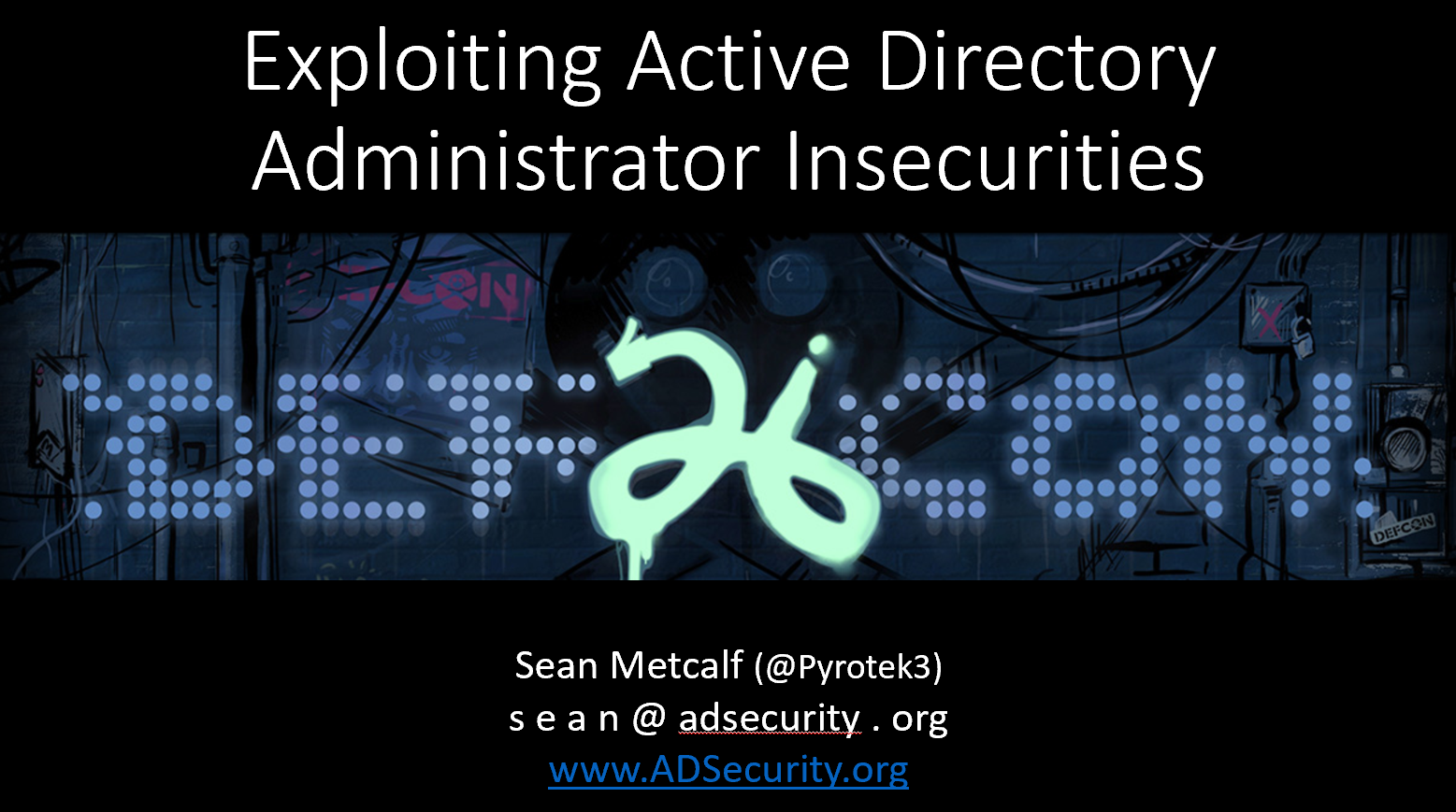 Active Directory Security – Active Directory & Enterprise